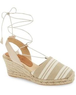 Tessa Ankle Wrap Espadrille Wedge