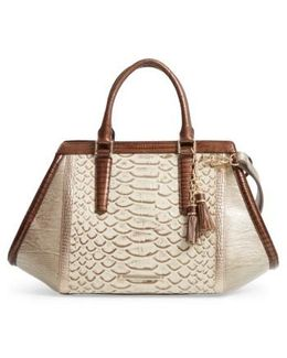 Arden Embossed Leather Satchel