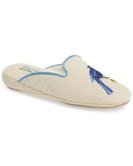 Bluebird Embroidered Slipper