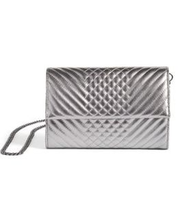 Fayna Foldover Clutch - Metallic