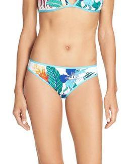 Hibiscus Print Bikini Bottoms