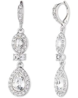 Pear Double Drop Earrings