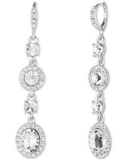 Crystal Linear Drop Earrings