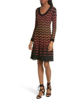 Greek Open Knit Dress