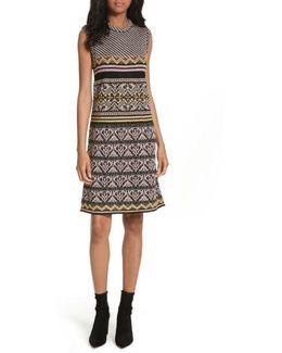 Ribbon Knit Sheath Dress