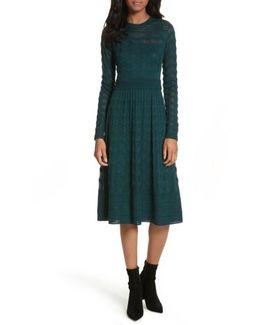 Mesh Detail A-line Dress