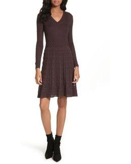 Wool Blend Knit A-line Dress