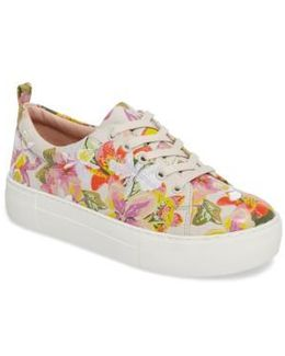 Appy Embroidered Platform Sneaker