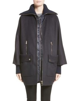 Acanthus Wool & Cashmere Coat With Removable Down Puffer Layer