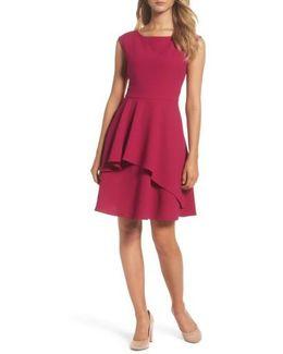 Ruffle Fit & Flare Dress