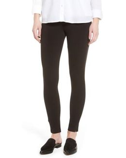 Mercerized Cotton Blend Leggings