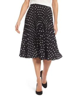 Polka Dot Pleat Skirt