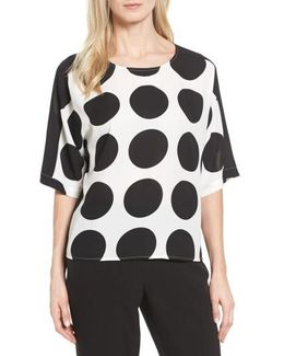 Polka Dot High/low Blouse
