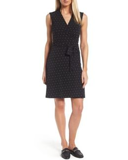 Pin Dot Wrap Dress