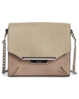 Moto Leather & Suede Crossbody Bag