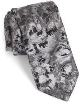 Moonlight Abstract Floral Silk Tie