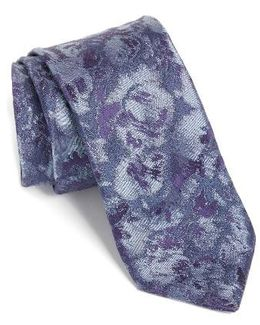 Moonlight Abstract Floral Silk Tie