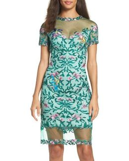 Verena Embroidered Sheath Dress