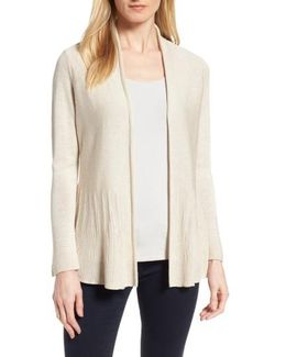 Polished Peplum Cardigan