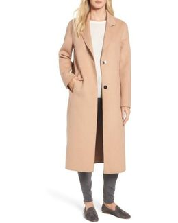 Double Face Wool Blend Long Coat