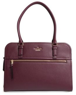 Jackson Street - Kiernan Leather Laptop Tote - Purple