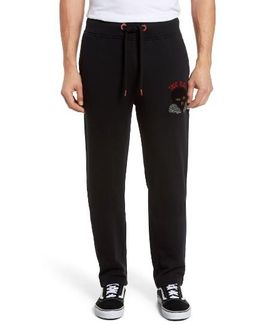Rising Sun Embroidered Sweatpants