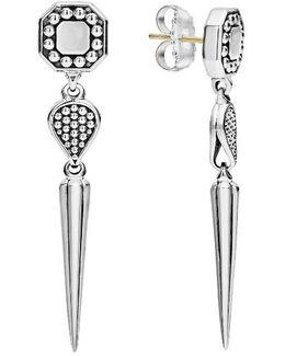 Signature Caviar Triple Drop Earrings