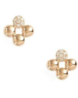 Poppy Rae Clover Diamond Stud Earrings
