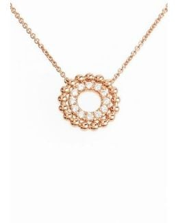 Poppy Rae Double Disc Diamond Pendant Necklace