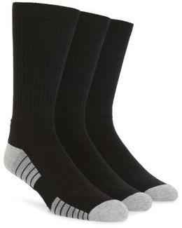 Heatgear 3-pack Crew Socks, Black