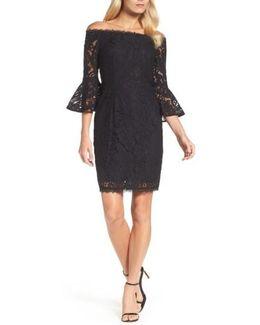 Off The Shoulder Lace Sheath Dress