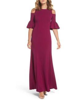 Cold Shoulder Gown