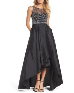 Embellished High/low Ballgown