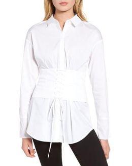 Corset Stretch Poplin Shirt