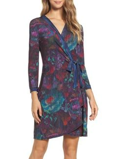 Adele Rose Tapestry Wrap Dress