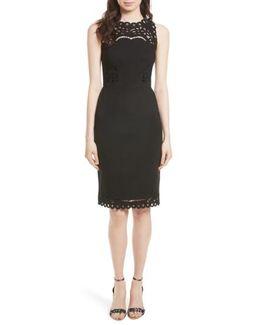 Verita Cutout Yoke Sheath Dress