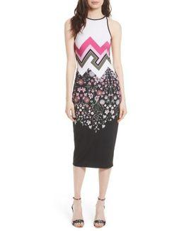 Seenaa Print Jersey Midi Dress