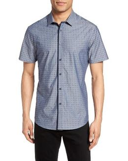 Trim Fit Dobby Check Sport Shirt