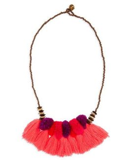 Pompom Tassel Necklace