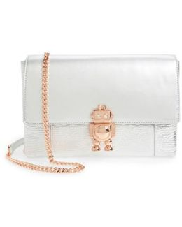 Jemms Leather Crossbody Bag - Metallic