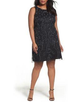 Beaded A-line Dress