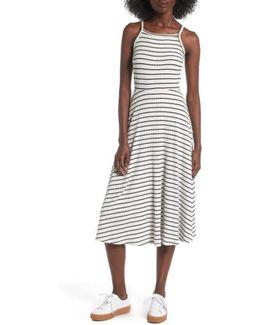 High Neck Knit Midi Dress