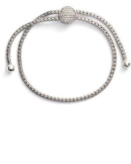 Classic Chain Diamond Pull Through Bracelet