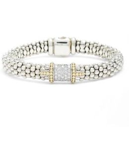 Diamond & Caviar Square Bracelet