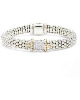 Diamond & Caviar Square Bracelet
