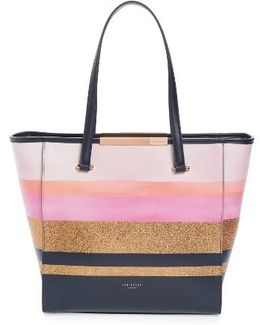 Large Glitter Stripe Shopper