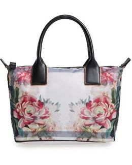 Small Painted Posie Tote