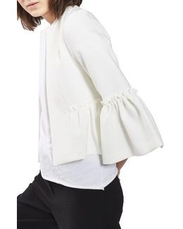 Ruffle Crop Jacket