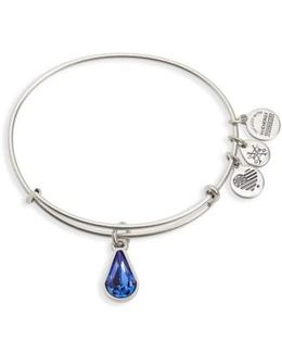 Birthstone Adjustable Wire Bangle