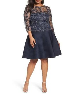 Lace & Pintuck Party Dress
